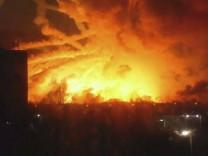 Munitionslager in Ukraine
