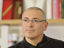 Russian former oil tycoon and later the most famous prisoner Mikhail Khodorkovsky speaks during a de