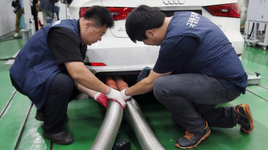 South Korea launches Volkswagen, Audi inspection