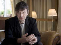 Scottish noir writer Ian James Rankin poses during an interview held in Madrid Spain on 03 October
