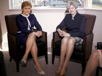 ***BESTPIX*** Theresa May Visits Scotland Ahead Of Triggering Article 50 Later This Week