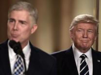Neil Gorsuch und Donald Trump