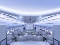 Der Innenraum eines Airbus A350.