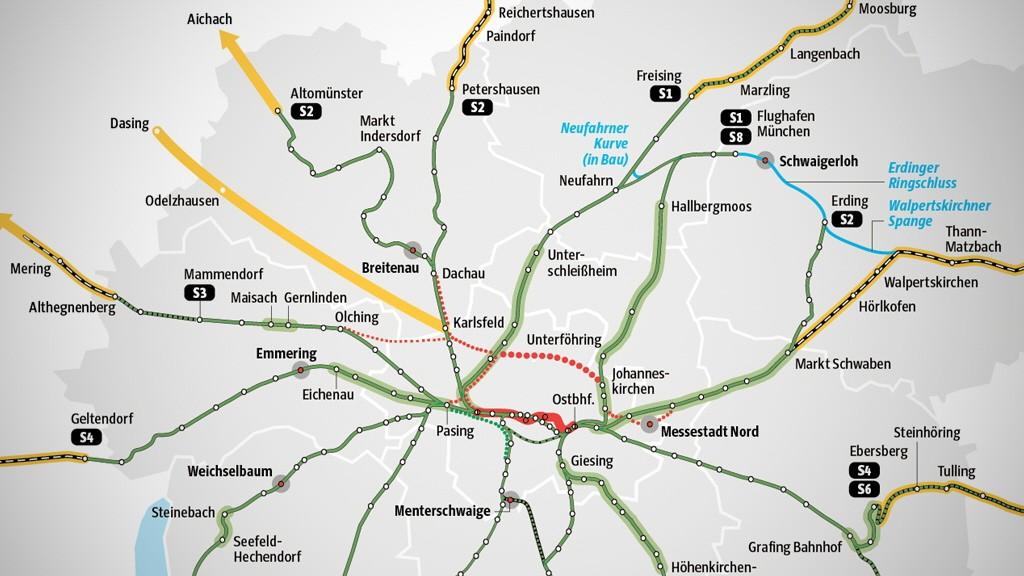 Karte München S Bahn Netz.München So Soll Die S Bahn Im Jahr 2050 Fahren München