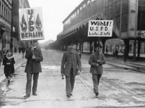 USPD beim Wahlkampf zu den Reichstagswahlen, 1920