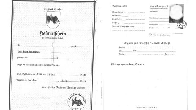 """""""Reichsbürger""""-""""Heimatschein des Freistaats Preußen"""""""
