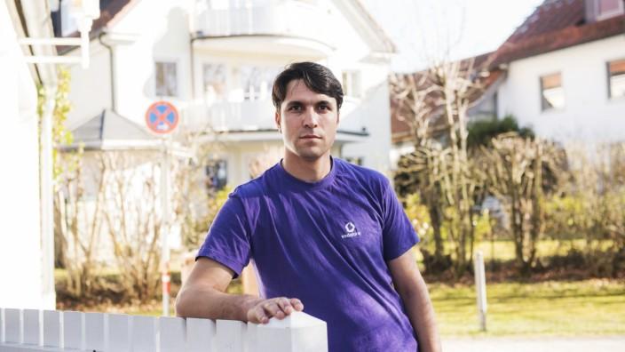 Grünwald, Portrait von Turyalai Ibrahimi Naderi, 25, Drogenfahnder aus Afghanistan