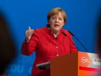 Angela Merkel auf dem Parteitag der NRW-CDU