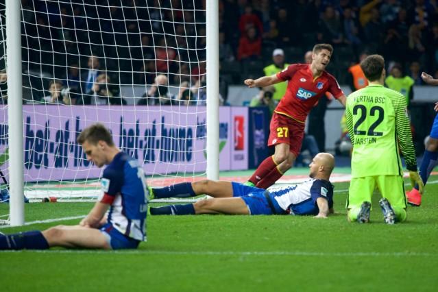 Fussball DFL 1 Bundesliga 31 03 2017 Berlin Olympiastadion Hertha BSC geg TSG 1899 Hoffenheim 1 3