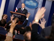 Spicer holds the daily press briefing at the White House in Washington