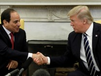 Trump meets Egypt President Abdel Fattah al-Sisi at the White House in Washington