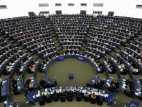 MEPs take part in a voting session on a resolution about Brexit priorities and the upcomming talks on the UK's withdrawal from the EU at the European Parliament in Strasbourg