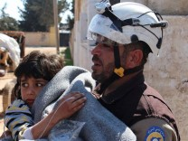 Apr 4 2017 Syria In this photo from the also better known as the White Helmets Volunteers in