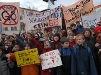 Schülerdemo gegen die Einführung des G 8, 2004