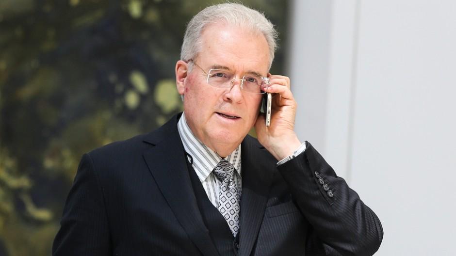 WASHINGTON, DC - MARCH 23: Billionaire Robert Mercer speaks on