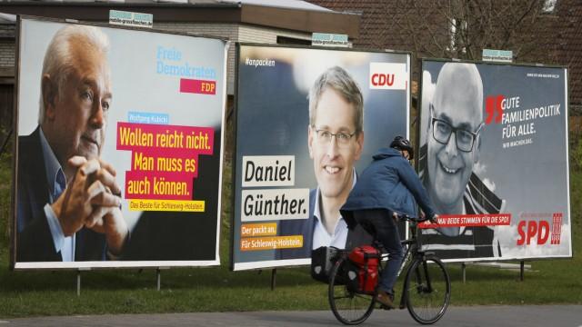 Wahlplakate zur Landtagswahl in Schleswig-Holstein