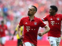 Bayern Munich's Franck Ribery celebrates scoring their first goal