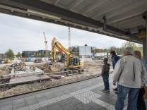 Haar, Bahnhof während Umbauarbeiten