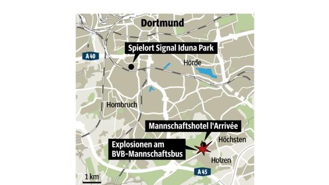 Borussia Dortmund Explosionen in Dortmund