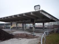 Gelände um den ehemaligen Olympia-Bahnhof am Oberwiesenfeld in München, 2014