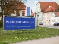 Uni Eichstätt kämpft mit einem Transparente-Dieb