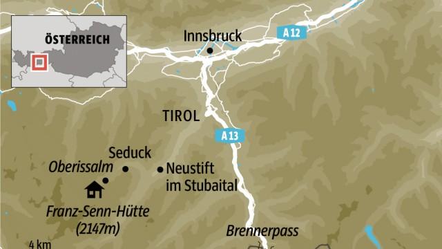 Alpen Skifahren im Stubaital