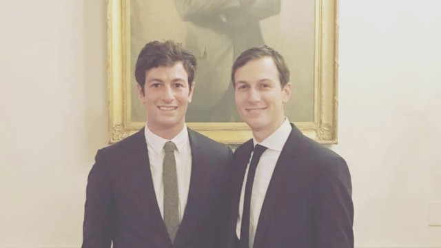 Joshua Kushner und Jared Kushner im Weißen Haus