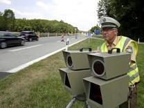 Geschwindigkeitskontrolle an der A 95 in München
