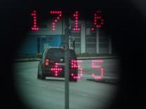 GERMERING: Radarmessung an der Augsburger Strasse