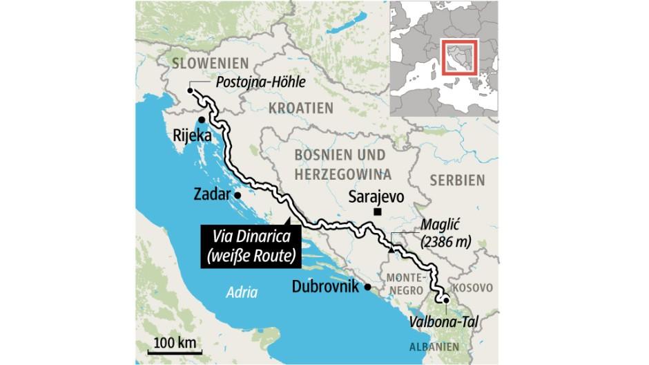 Berge Tourismus auf dem Balkan