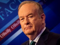 FILE PHOTO: Fox News Channel host Bill O'Reilly poses on the set of his show 'The O'Reilly Factor' in New York