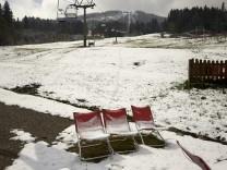 Blomberg mit wenig Schnee