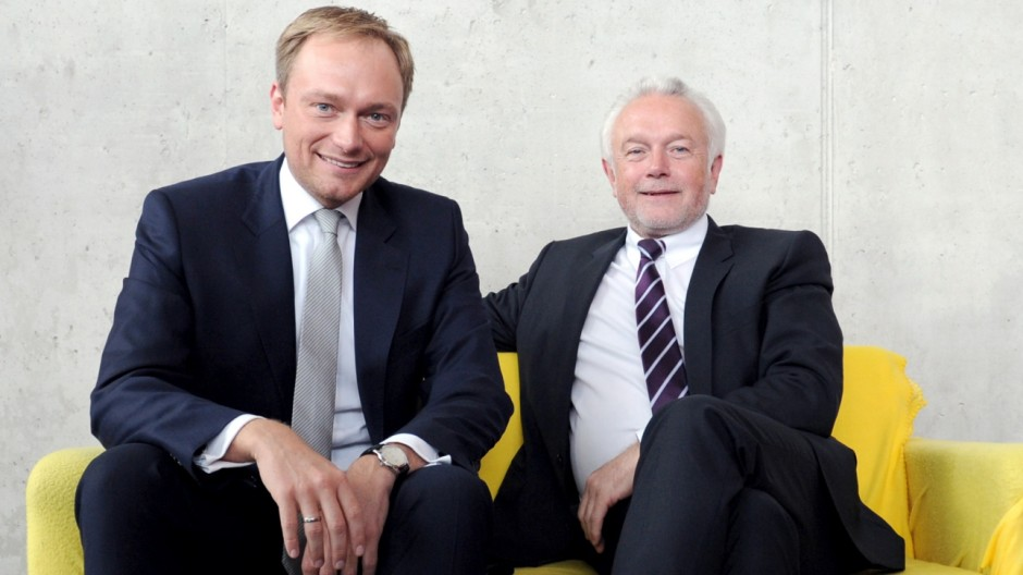 Kubicki und Lindner im Gespräch