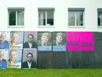 Bruck: WAHLPLAKATE der Bürgermeister-Kandidaten