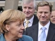 Merkel, Westerwelle, Seehofer, Schwarz-Gelb, AP
