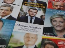 Wahlunterlagen zu Frankreichs Präsidentschaftskandidaten