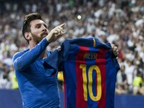 Leo Messi of FC Barcelona Barca celebrates after scoring a goal during the match of La Liga between; Lionel Messi