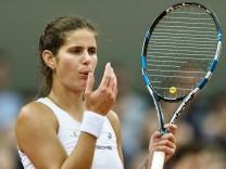 Julia Görges bei den Tennis FedCup Play-Off Deutschland-Ukraine