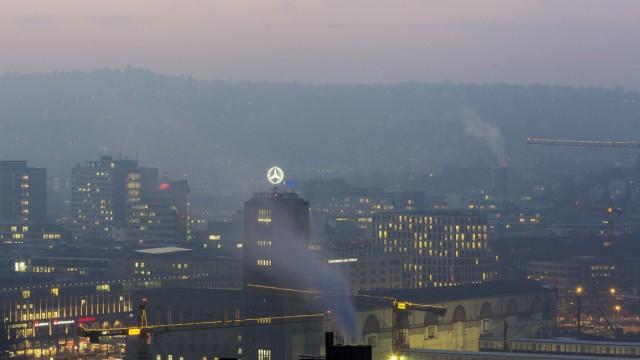 Feinstaub über Stuttgart