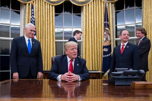 US President Donald Trump marks 100 days in office.