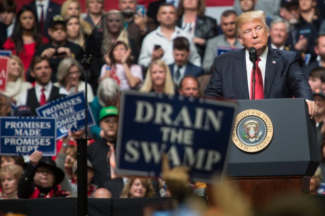 US Pres. Donald President Trump Holds Rally