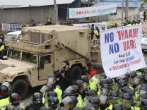 USA bauen Raketenabwehr in Südkorea auf