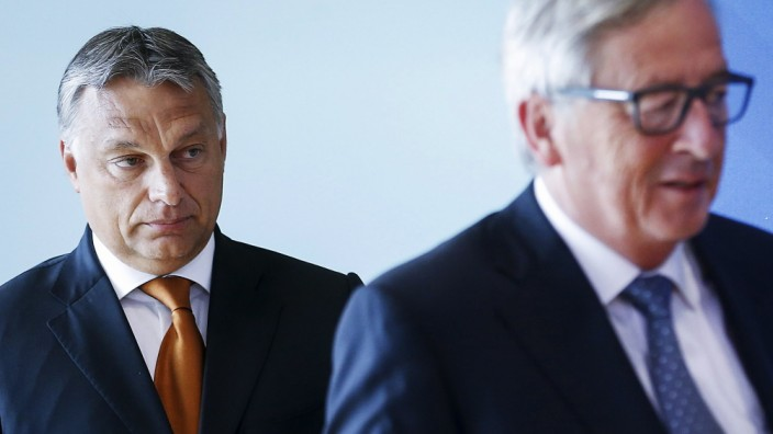 European Commission President Jean Claude Juncker and Hungarian P