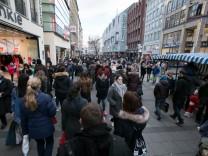 Andrang nach Weihnachten in der Münchner Innenstadt, 2016