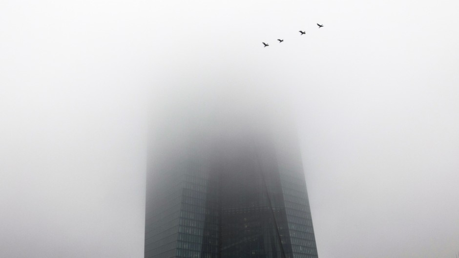 EZB im Nebel
