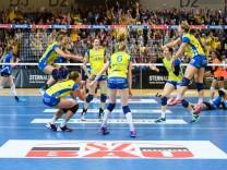 26 04 2017 Palmberg Arena Schwerin Volleyball Bundesliga Frauen Play offs Finale SSC Palmberg S