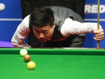 170426 SHEFFIELD April 26 2017 Ding Junhui of China competes during the third session of q