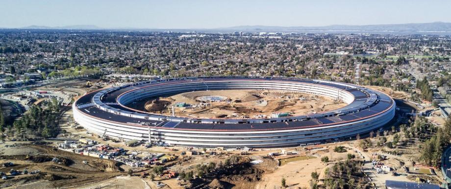 Die neue Apple Firmenzentrale in Cupertino Kalifornien kurz vor der Eröffnung Der Umzug der Anges