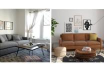 Modsy Wohnzimmer vorher/nachher