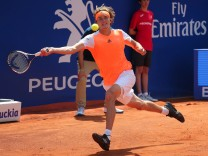 April 25 2017 Barcelona Spain Alexander Zverev during the match against Nicolas Almagro corres